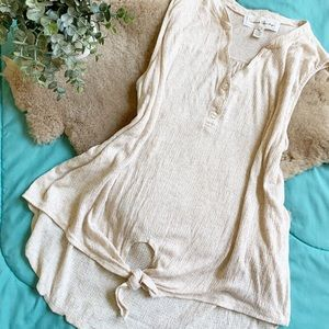 French Laundry Cream Blouse 2XL